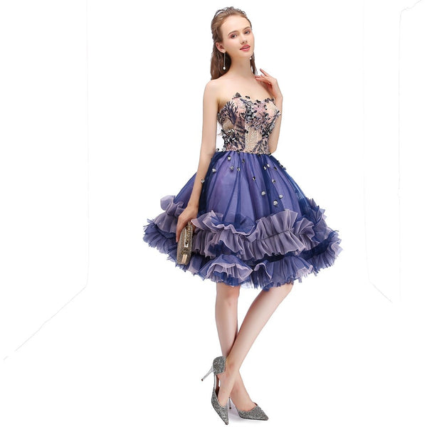 Belle Elegant Sleeveless Purple Ball Gown