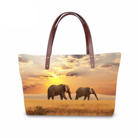 Belle Elephant Lovers 3D Print Tote Bag - Belle Closet