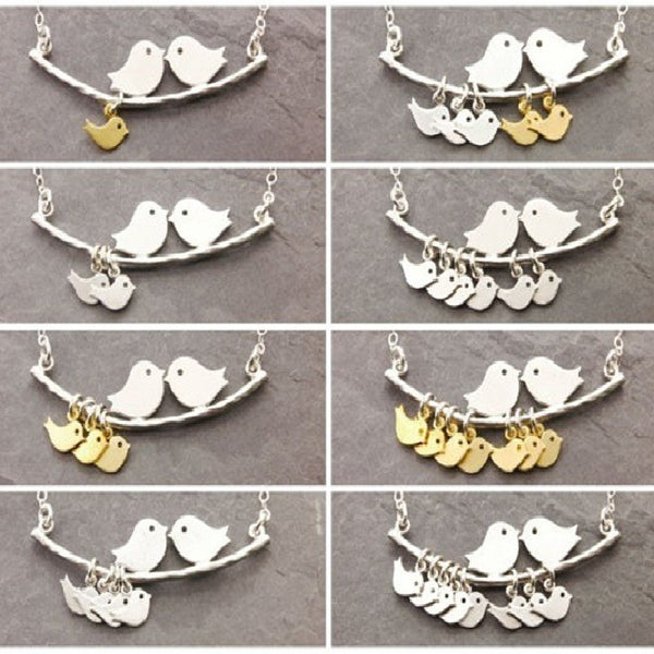 Happy Bird Family Fashion Necklace - Belle Closet