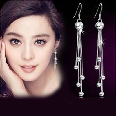 Lovely Five Beads Earrings - Belle Closet