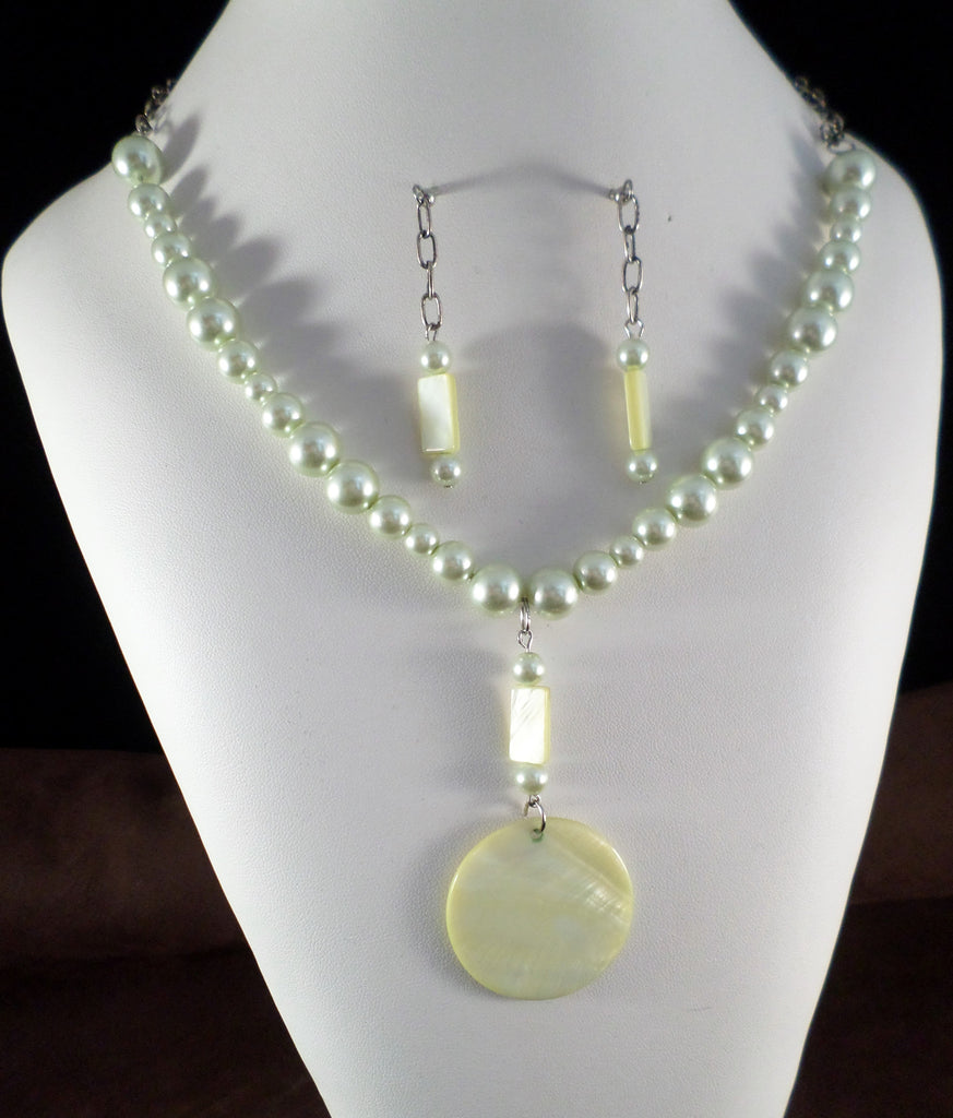 Green Necklace and Earring Set
