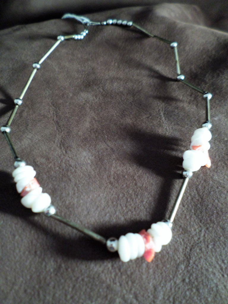 Orange & White Necklace