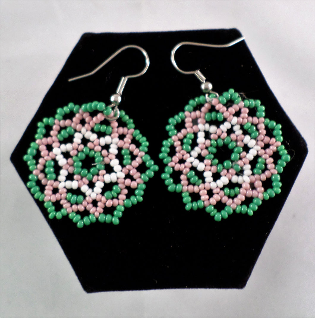Huichol Lace Round Earrings