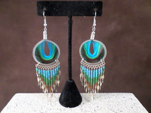 Large Round Threaded Dangle Earrings