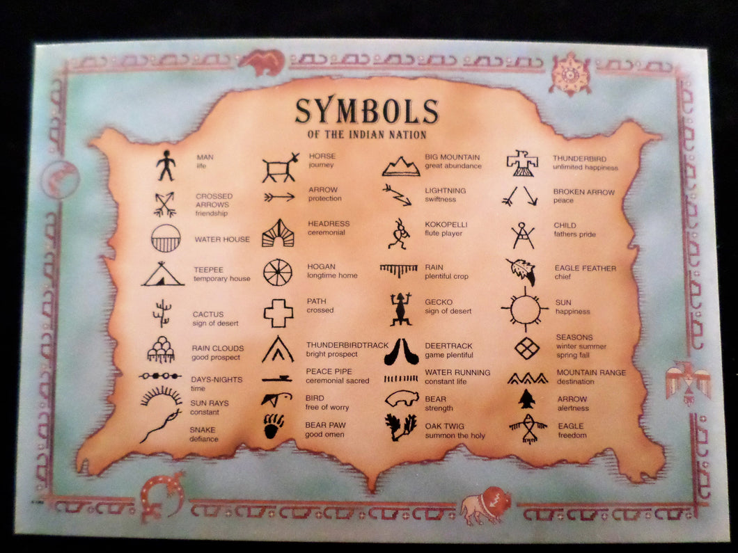 Postcard Symbols Of The Indian Nation Catawba Cultural