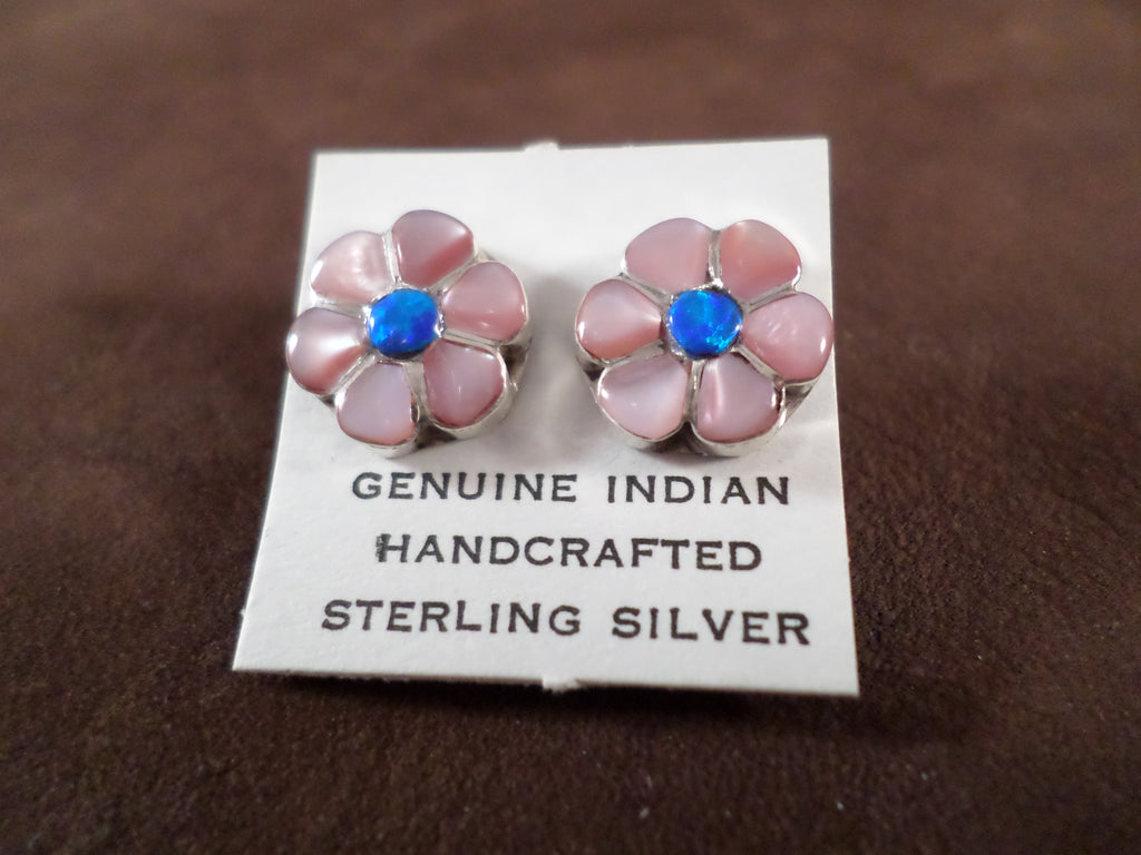 Flower Stone Stud Earrings