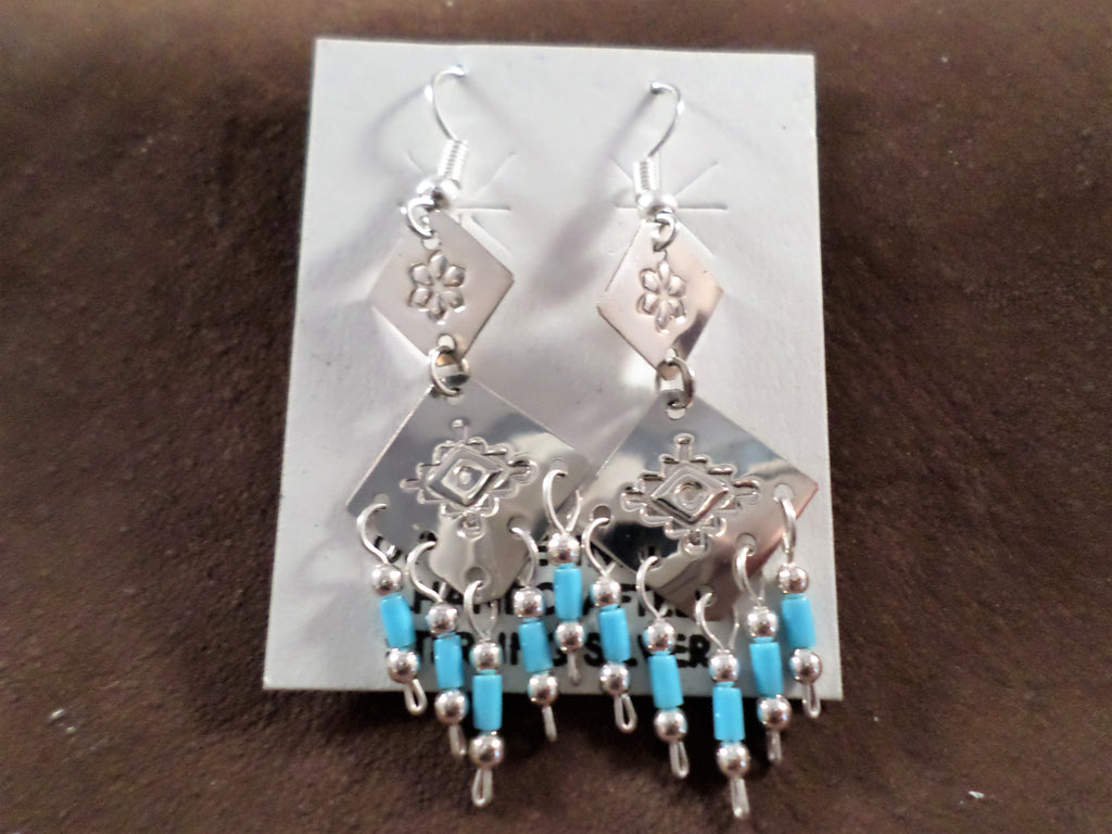Silver & Turquoise Dangle Earrings