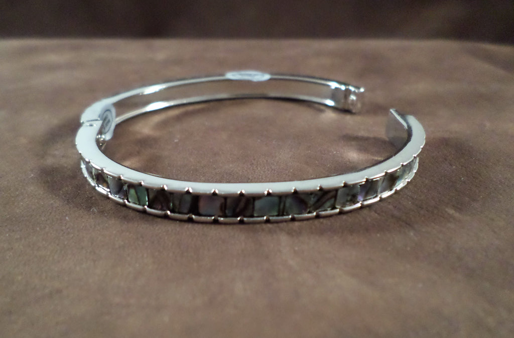 Abalone Pieced Hinged Bracelet