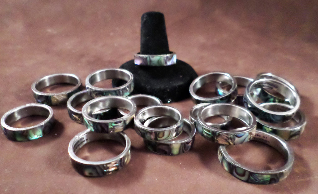 Abalone Band Ring