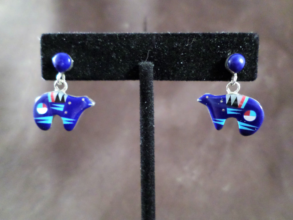 Bear Effigy Dangle Earrings