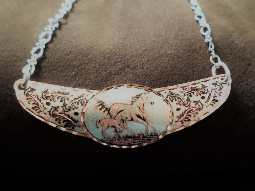 Mare and Colt Copper Necklace