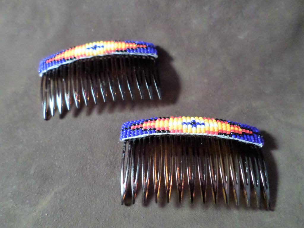 Hair Combs - Native American Beaded Theme