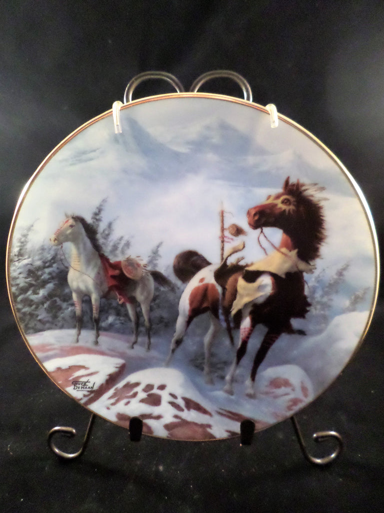 """Shoshoni War Ponies"" Collector's Plate"