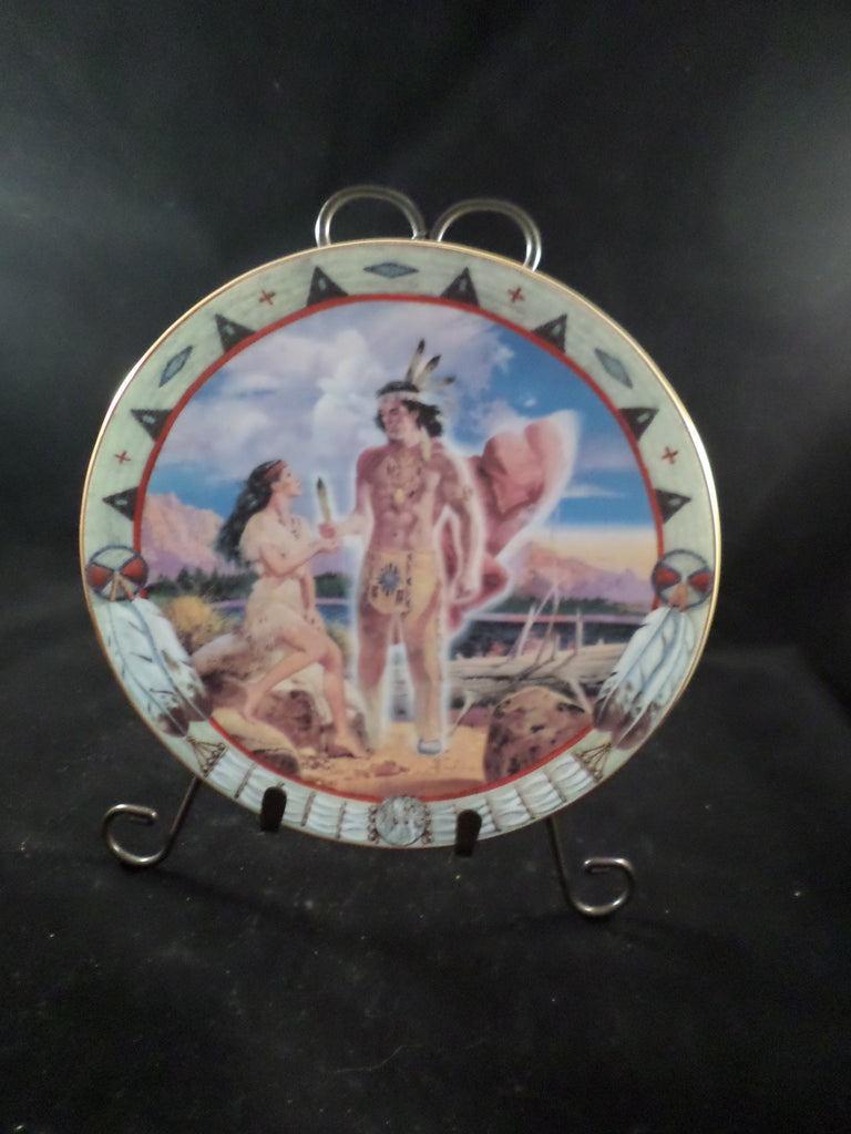 """Feather Woman"" Collector's Plate"
