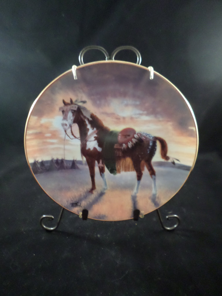 """Crow War Pony"" Collector's Plate"