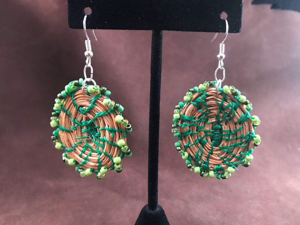 Pine Needle Earrings by Beckee Garris
