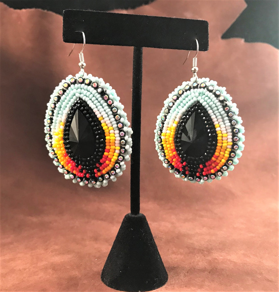 Medium Beaded Earrings