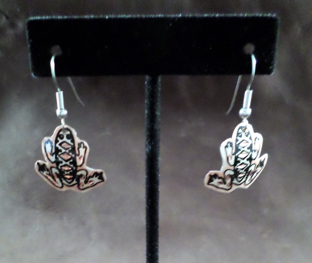 Frog Copper Earrings