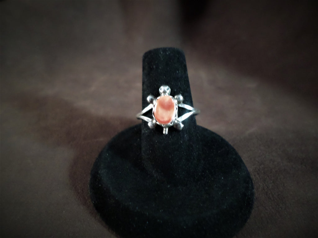 Coral Turtle Ring