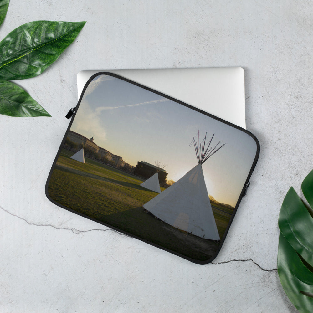 Sunrise on National Mall Laptop Sleeve - Photograph by Aden George-Warren