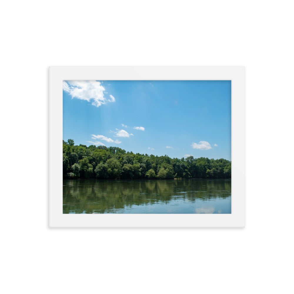 Iswa Katabare (Catawba River) Framed poster - Photograph by Alex Osborn