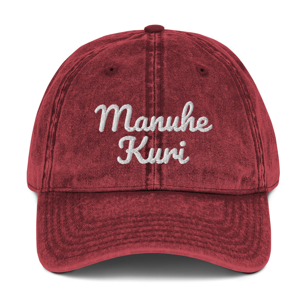 "Manuhe Kuri Cap - ""Our Good Earth"" Cap"