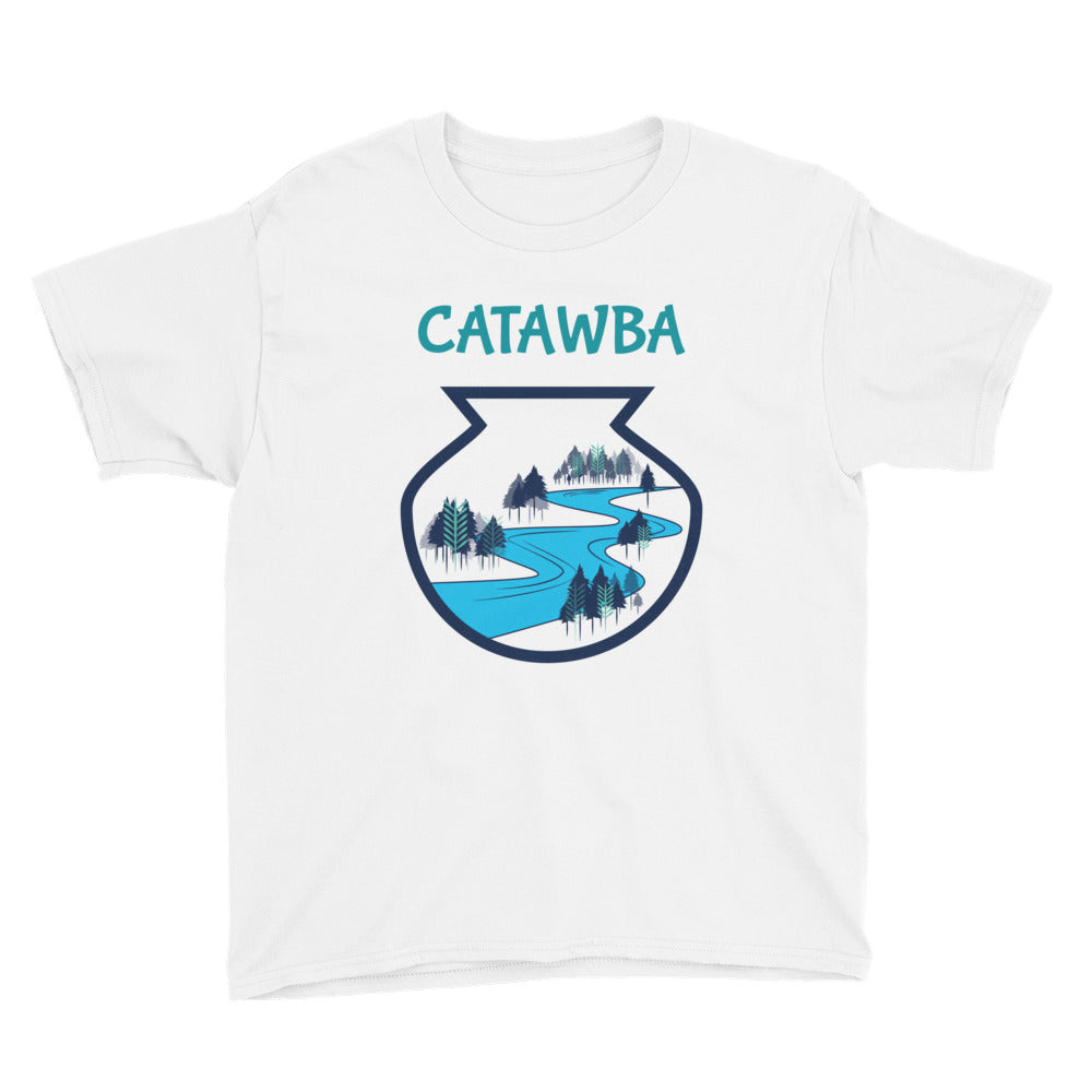 Catawba River Scene Youth Short Sleeve T-Shirt w/ artwork by Alex Osborn