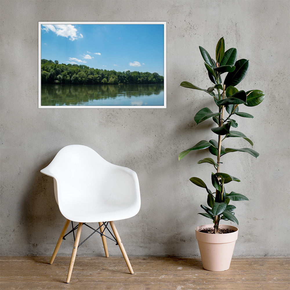 Iswa Katabare (Catawba River) Framed poster - Photograph by Alex Osborn (Catawba)