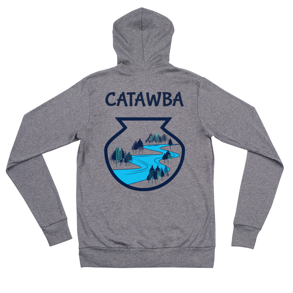 Catawba River Scene Unisex zip hoodie artwork by Alex Osborn