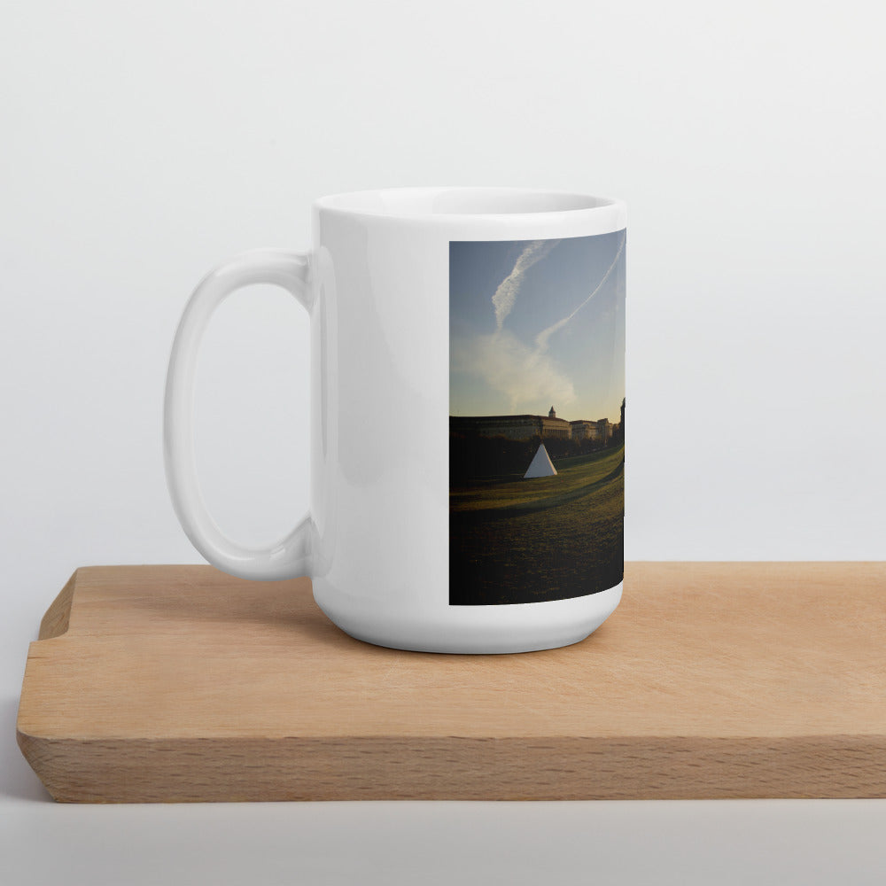 On the National Mall Mug - Photograph by Aden George-Warren (Catawba)