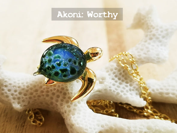 Sea turtle jewelry handcrafted glass the honu collection the honu collection mozeypictures Images