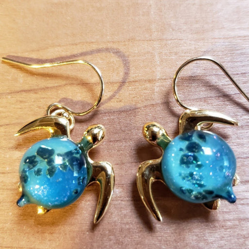 Pair of Mahalo earrings | The Honu Collection by Amy Wakingwolf