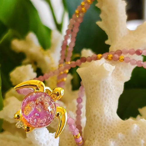 Kuipo on Pink Tourmaline Gemstone Necklace | The Honu Collection by Amy Wakingwolf