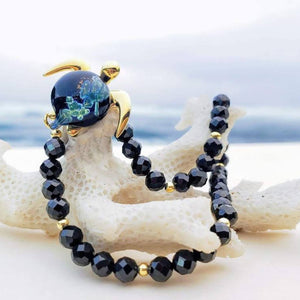 Hana on Gemstone Stretch Bracelet | The Honu Collection by Amy Wakingwolf