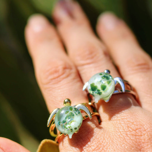 Kalele Double Band Gold or Silver Ring | The Honu Collection by Amy Wakingwolf