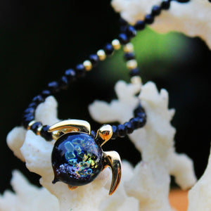 Hana on Black Spinnel Gemstone Necklace | The Honu Collection by Amy Wakingwolf