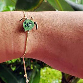 Kalele on Slide Up Bracelet | The Honu Collection by Amy Wakingwolf
