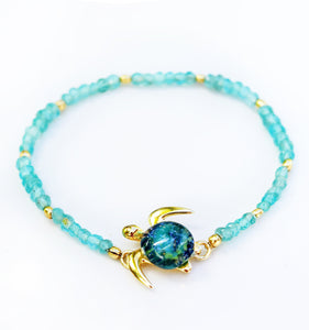 Mahalo Gemstone Stretch Bracelet | The Honu Collection by Amy Wakingwolf