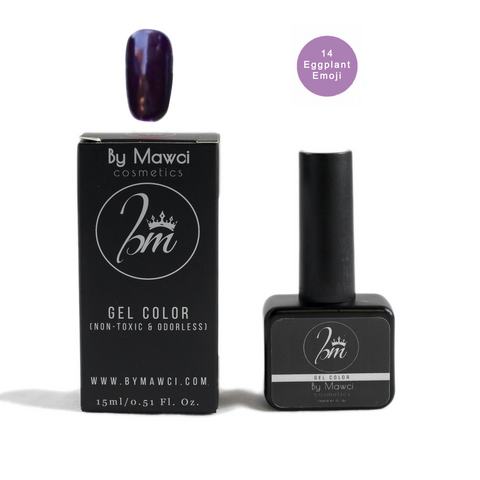 By Mawci Gel Polish - Eggplant Emoji