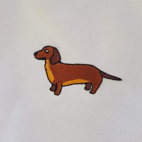 embroidered dachshund logo design
