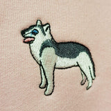 embroidered husky logo design