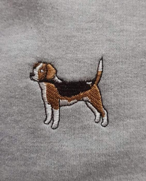 embroidered beagle logo design