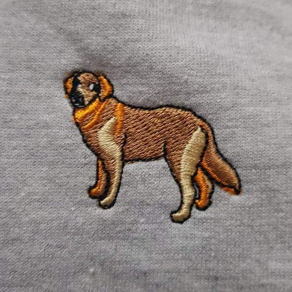 embroidered golden retriever logo design