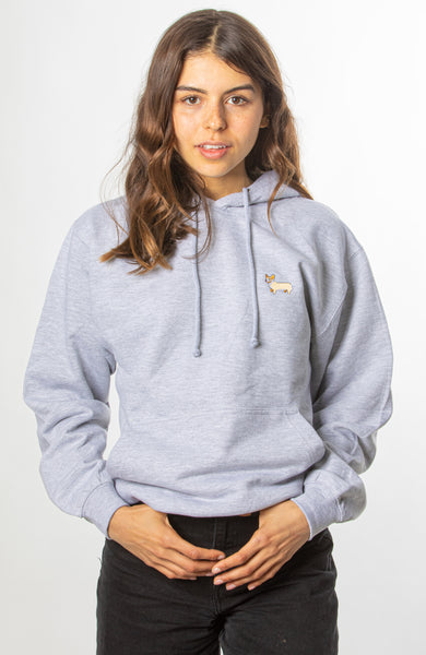 Corgi Hoodie - Heather Grey