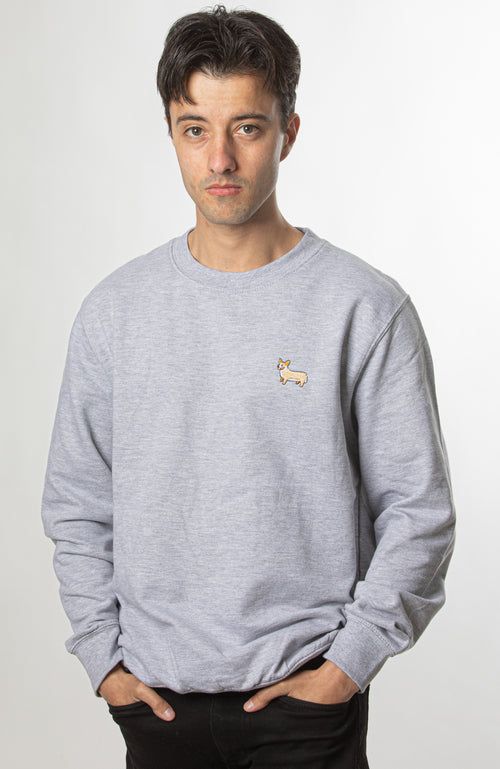 Corgi Jumper - Heather Grey