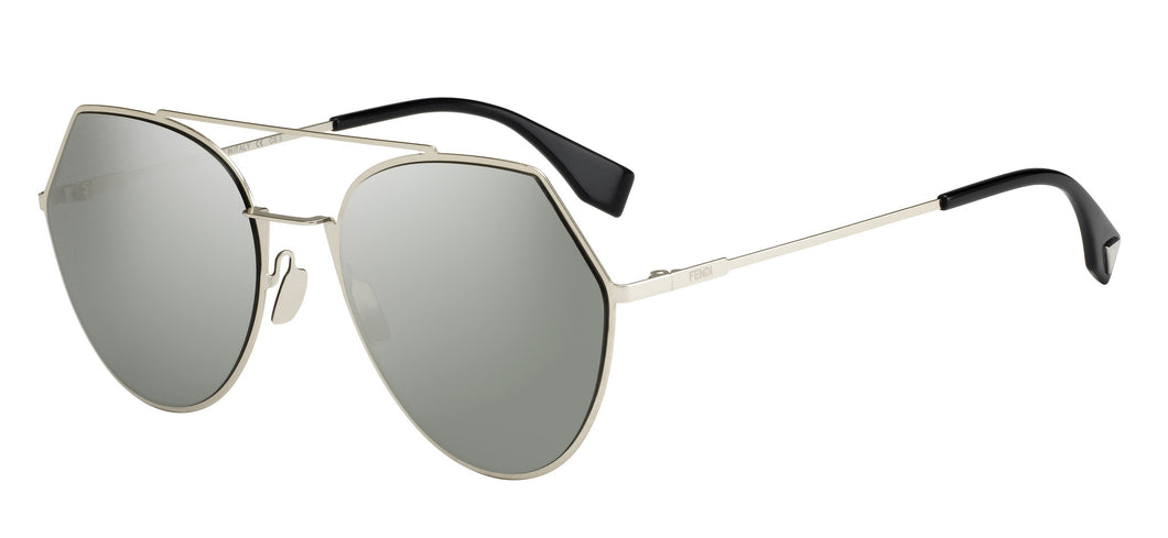 Fendi Eyeline FF0194/S  Color 3YG/0T Size 55 trendy silver mirror sunglasses designer eyewear buy online best price