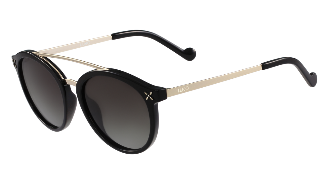 Liu-Jo 31837  Color 001 Size 51/19 Ebony black gold sunglasses trendy designer eyewear best buy online fashion amazing gaze webshop
