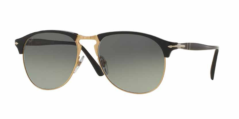 Persol Black  Color 95/71 Size 53 Black gold unisex eyewear trendy designer sunglasses amazing gaze webshop