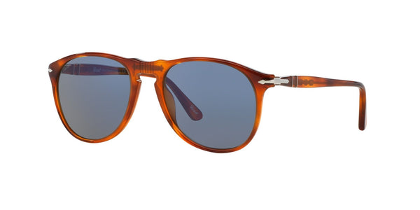 Persol Terra Di Siena  Color 96/56 Size 52 Brown unisex sunglasses blue lenses amazing gaze online shop