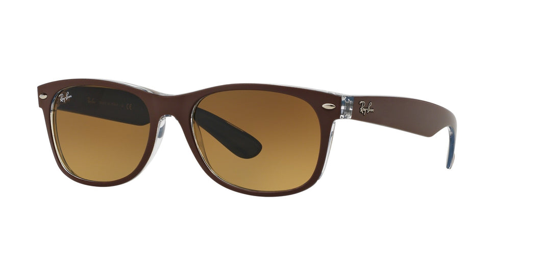 Ray-ban New wayfarer small RB2132  Color 618985 Size 52 Unisex brown sunglasses trendy eyewear amazing gaze webshop